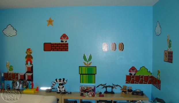 Habitacion infantil estilo Mario Bros