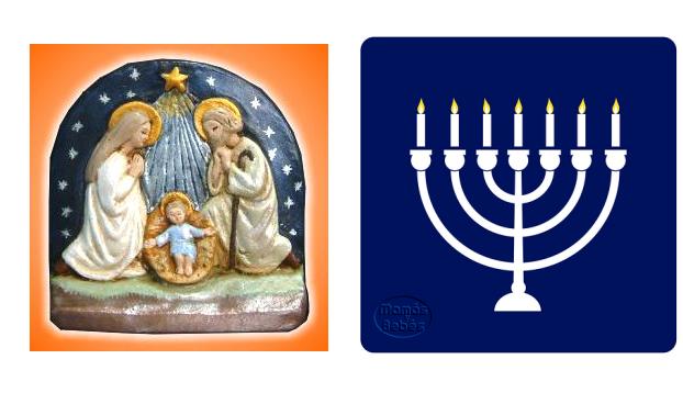 Navidad o Hanukkah? Cuando los padres tienen distintas religiones