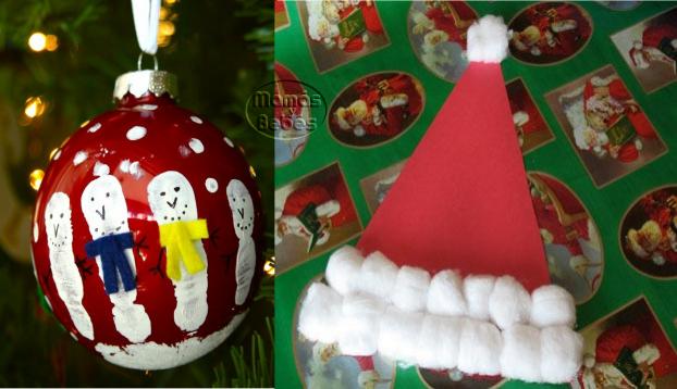 Navidad manualidades infantiles faciles mam s y beb s - Manualidades infantiles para navidad ...