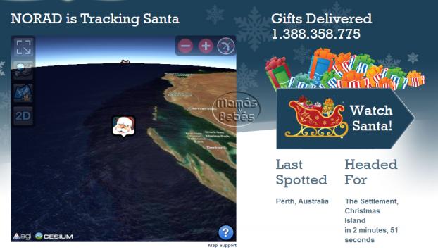 sigue el recorrido de Santa Claus en Internet