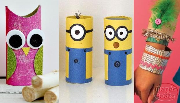 Manualidades infantiles con tubos de cart n - Manualidades infantiles recicladas ...